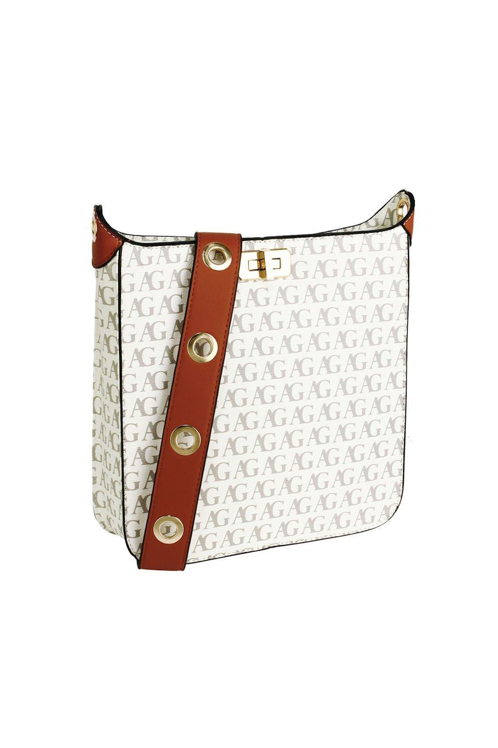Bílá crossbody kabelka s potiskem