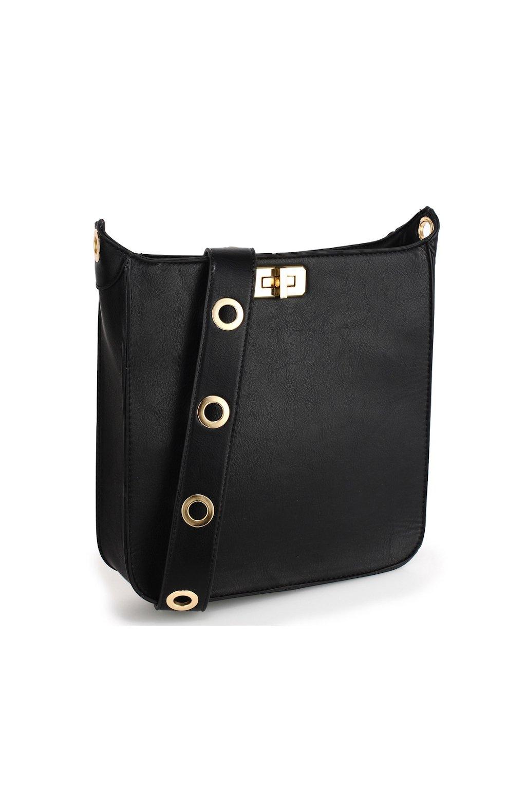 Elegantní černá crossbody kabelka