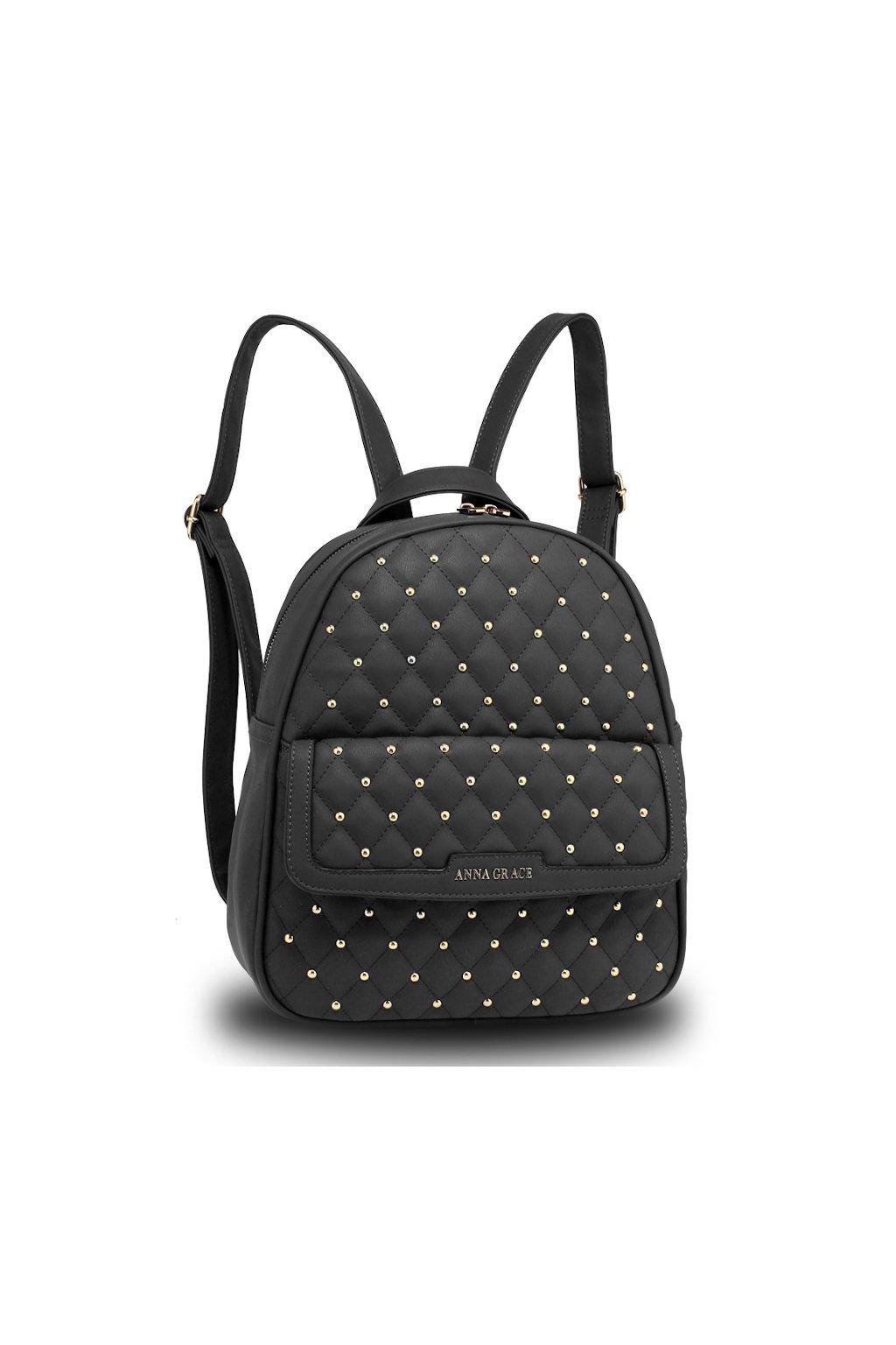 Moderní černý batoh Anna Grace