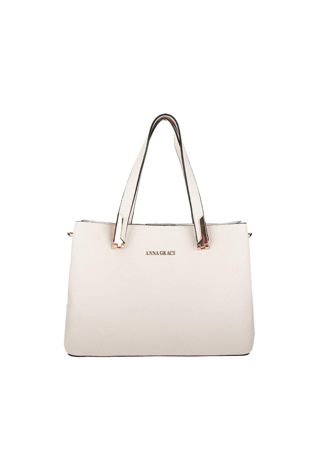 Luxusní béžová kabelka Anna Grace