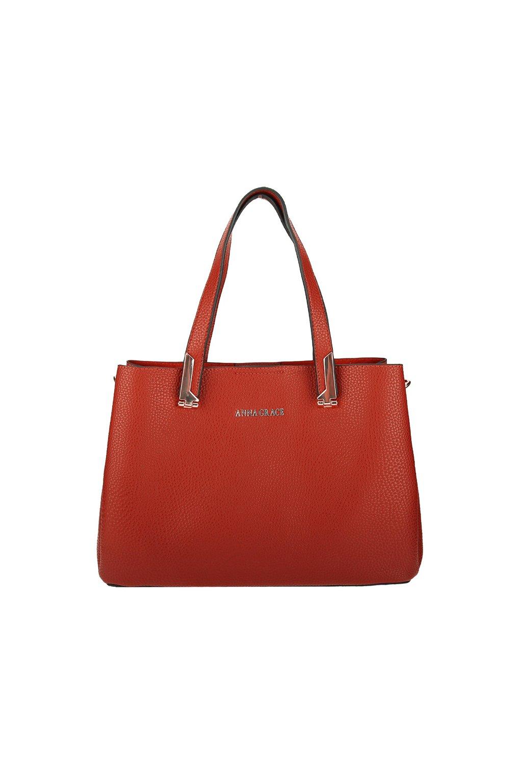 Luxusní červená kabelka Anna Grace