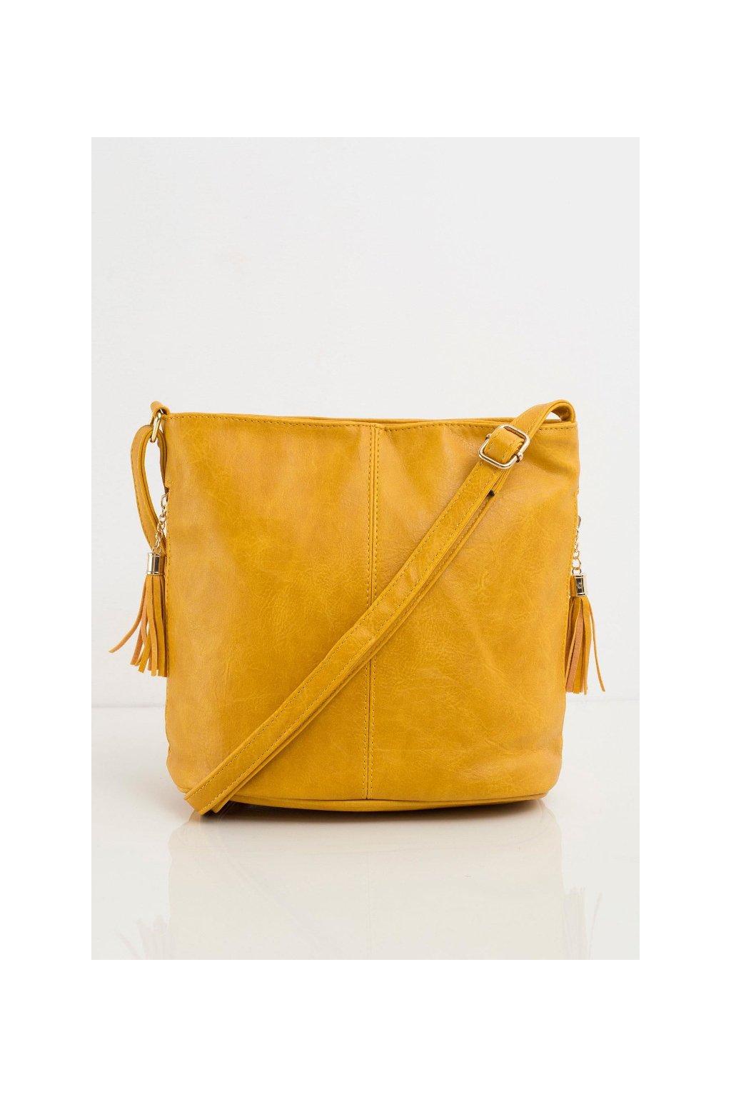 Velká žlutá crossbody kabelka