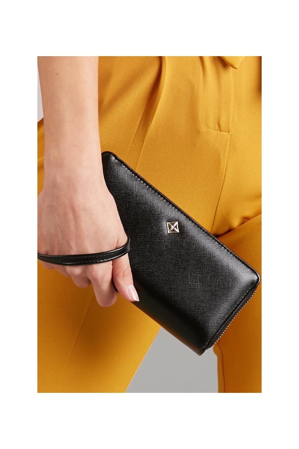 Prostorná černá peněženka Milano Design