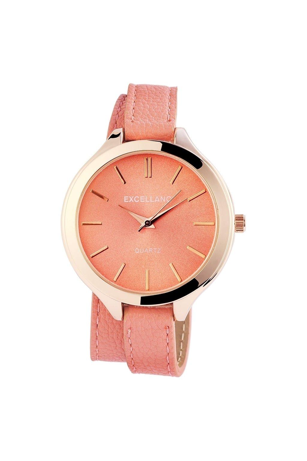 Náramkové hodinky Excellanc starorůžové