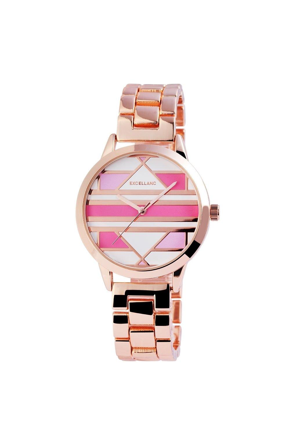Kovové dámské hodinky s barevným ciferníkem