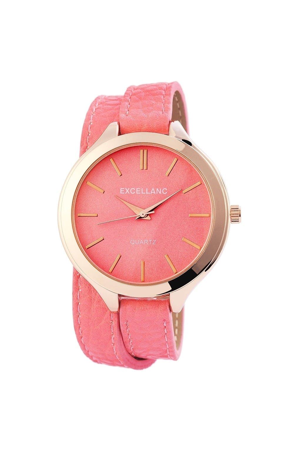 Náramkové hodinky Excellanc růžové