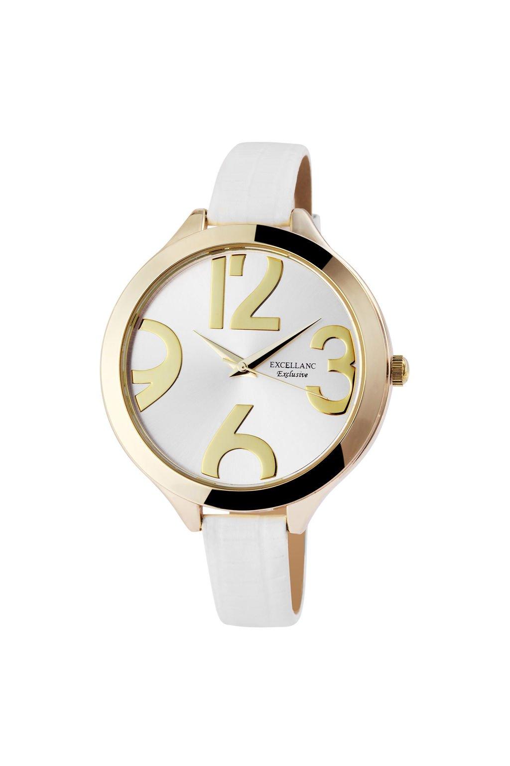 Moderní bílé dámské hodinky s úzkým páskem