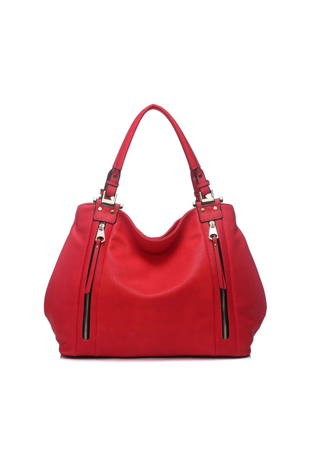 Červená kabelka na rameno Moda Handbag 8261