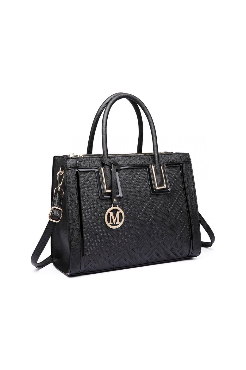 Luxusní černá kabelka do ruky LT6622