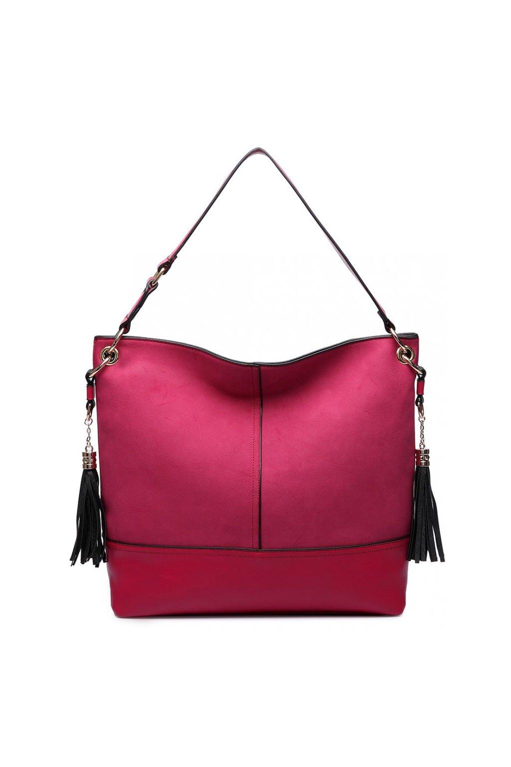 Růžová hobo kabelka na rameno LT6616