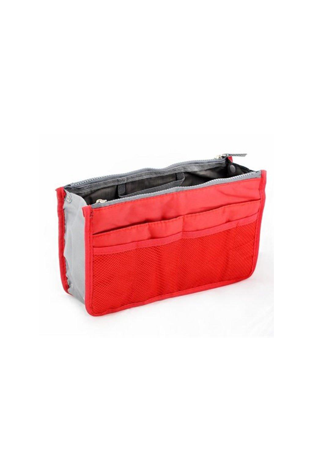 Červený organizér do kabelky