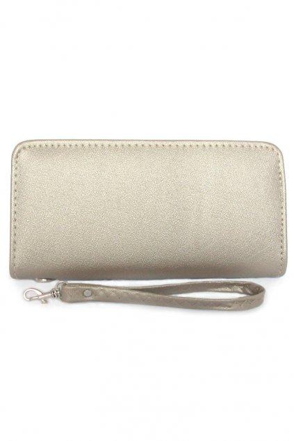 Elegantní dlouhá šedá peněženka