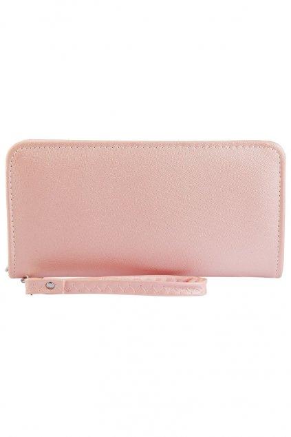 Elegantní dlouhá růžová peněženka