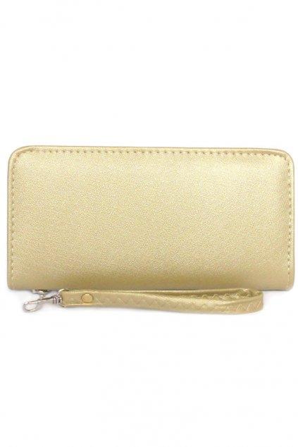 Elegantní dlouhá žlutá peněženka
