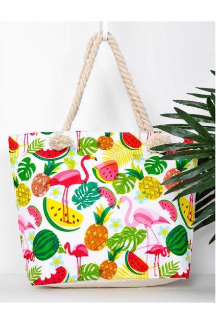 Plážová taška s pestrobarevným potiskem