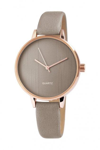 Elegantní hodinky s khaki páskem
