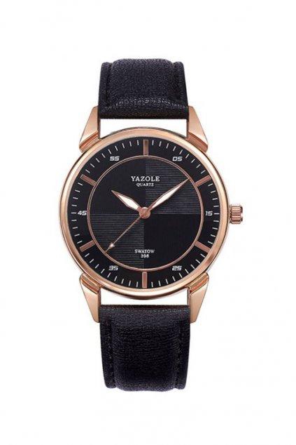 Elegantní černé pánské hodinky s černým ciferníkem
