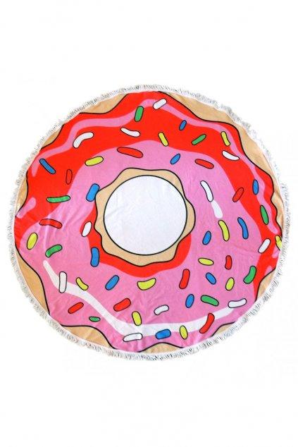 Originální kulatý plážový ručník Donut