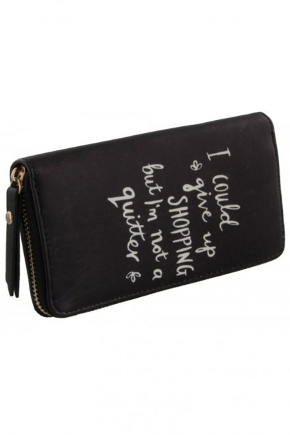 Černá peněženka Shopaholic s nápisem S-C2.4