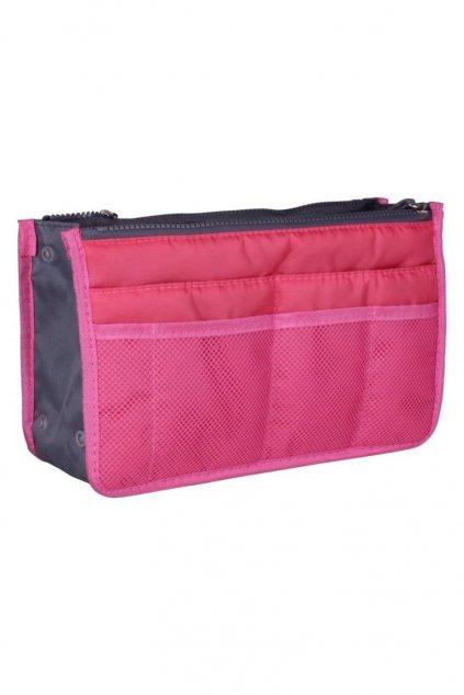 Růžový organizér do kabelky