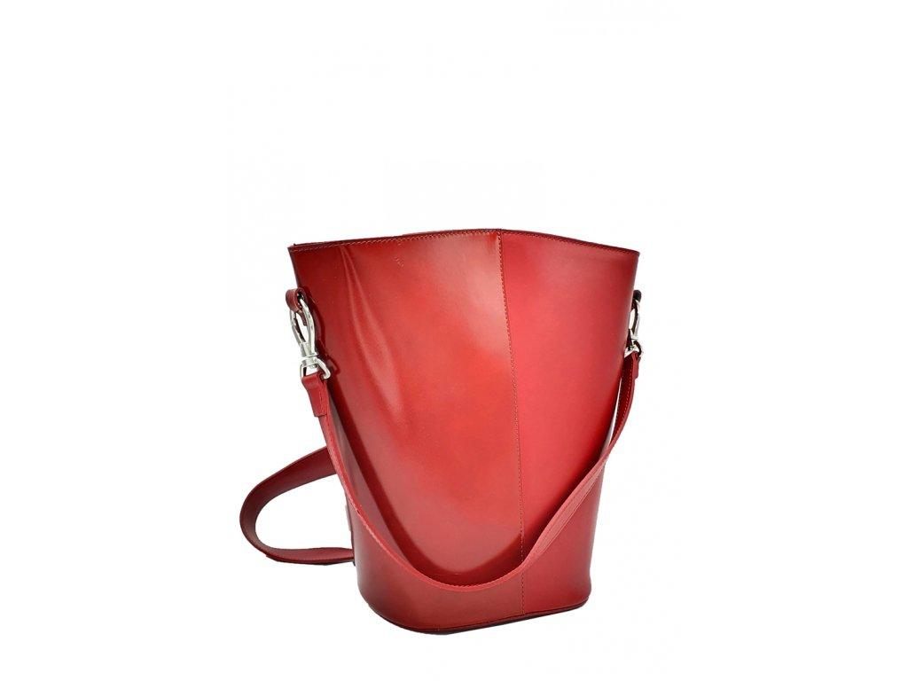 Kožená kabelka Astra červená