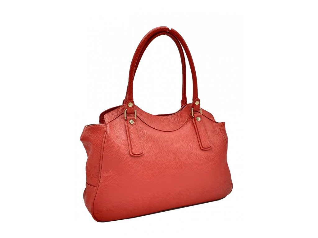 Kožená kabelka do ruky Bea červená