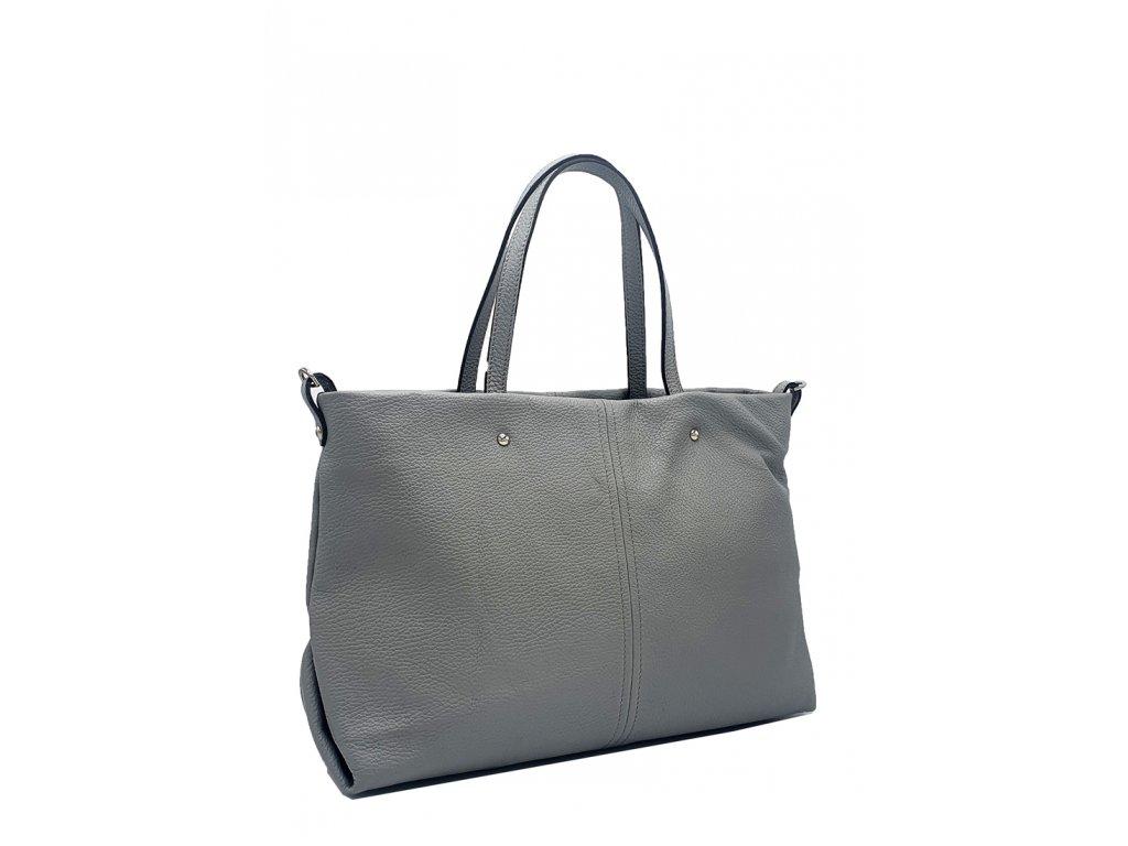 Kožená kabelka přes rameno Zela šedá