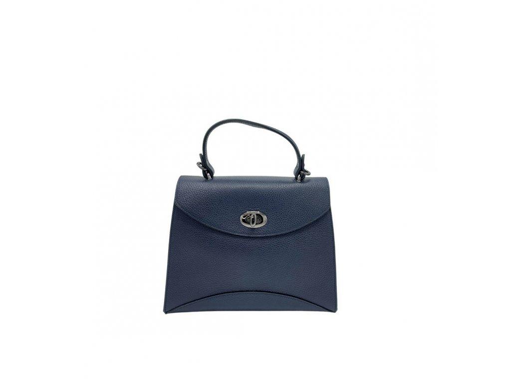 Kožená kabelka do ruky Zoe tmavě modrá