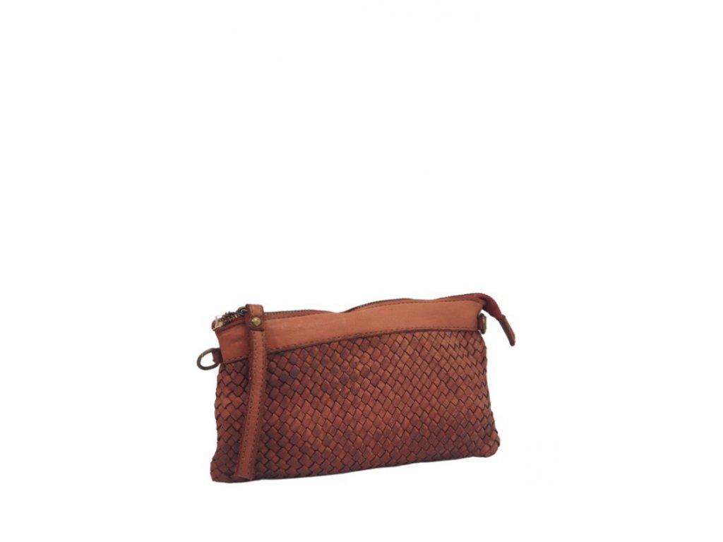 Kožená kabelka 3227 vintage červená