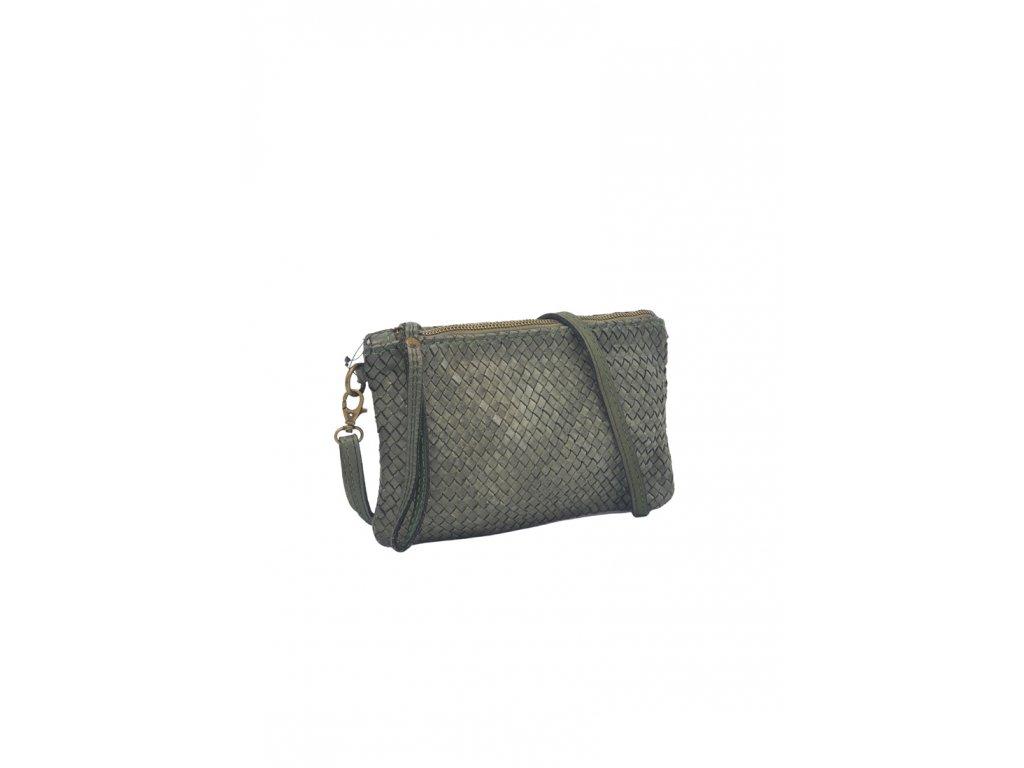 kožená kabelka vintage šedá