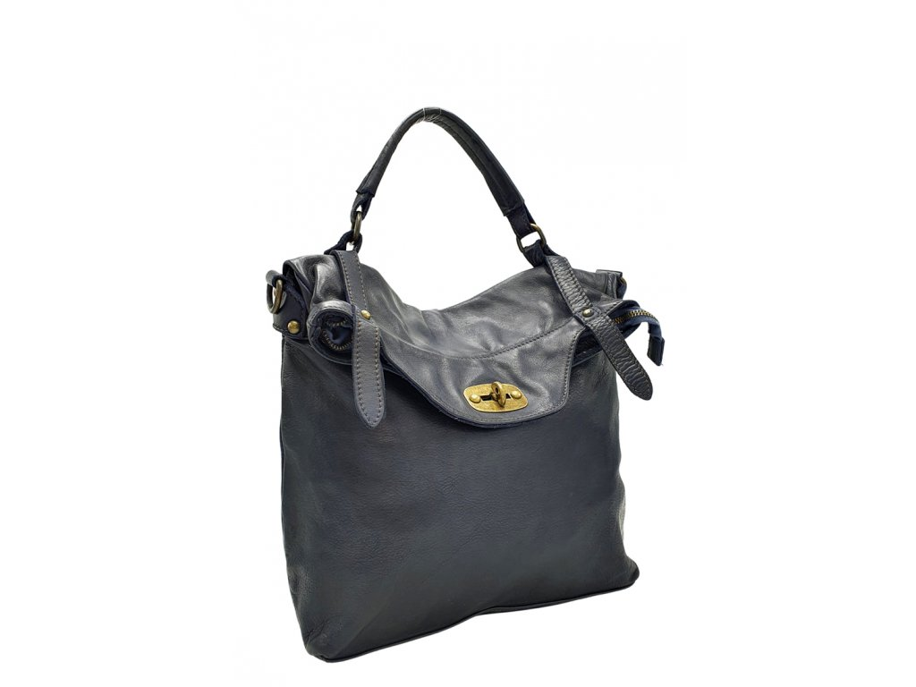 Kožený batoh modrý vintage 2455 1 (3)