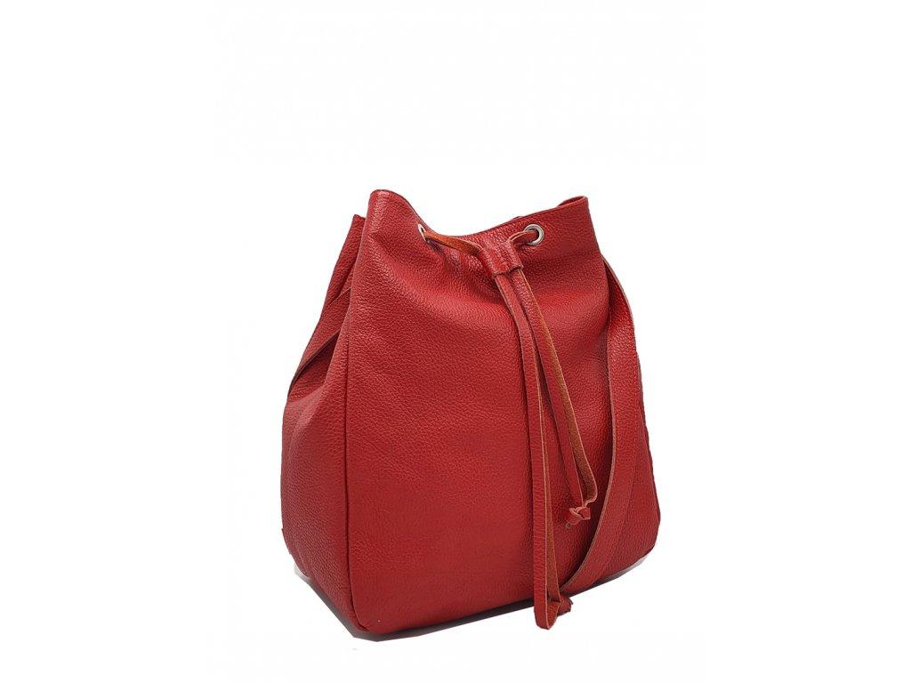 Kožená kabelka Sára červená