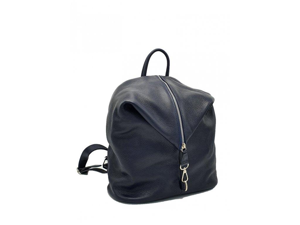 Kožený batoh Massimo tmavě modrý