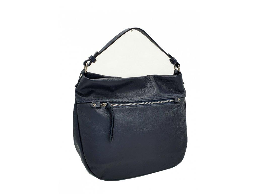 Kožená kabelka přes rameno Larisa tmavě modrá