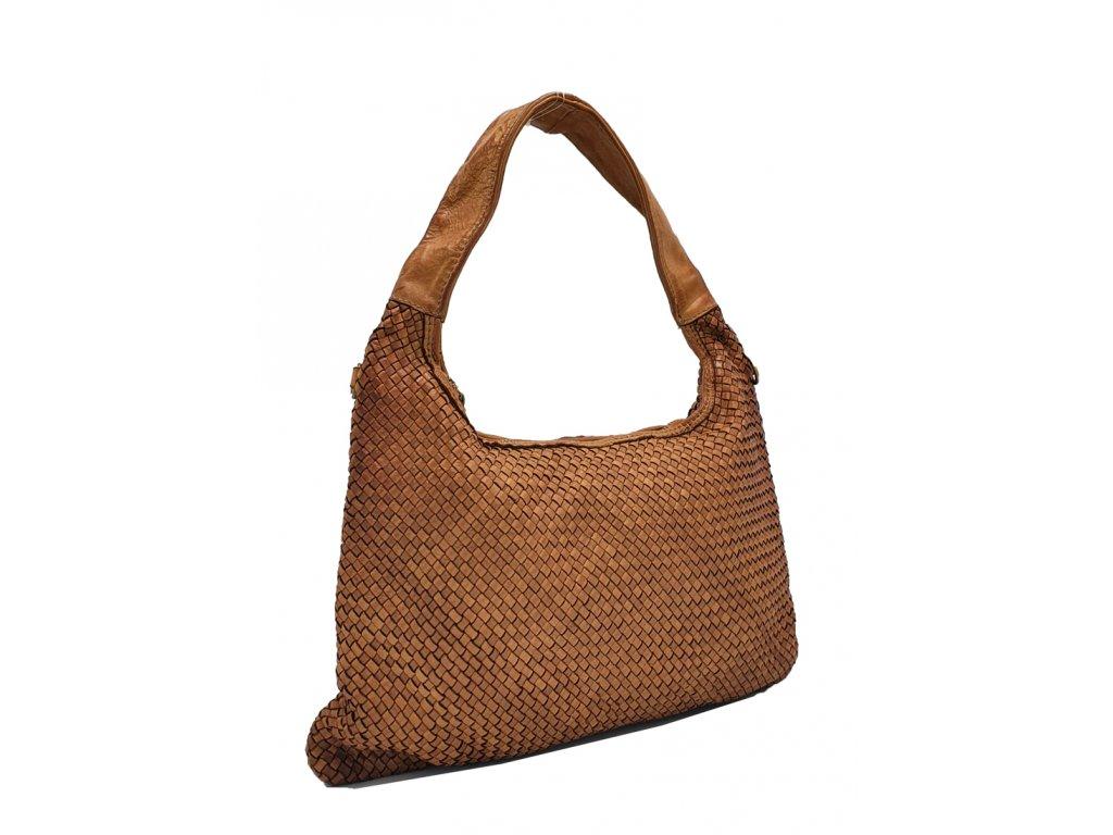 Kožená kabelka přes rameno vintage cuoio