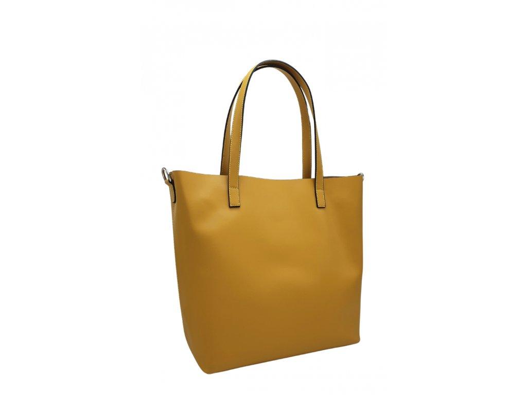 Kožená kabelka žlutá