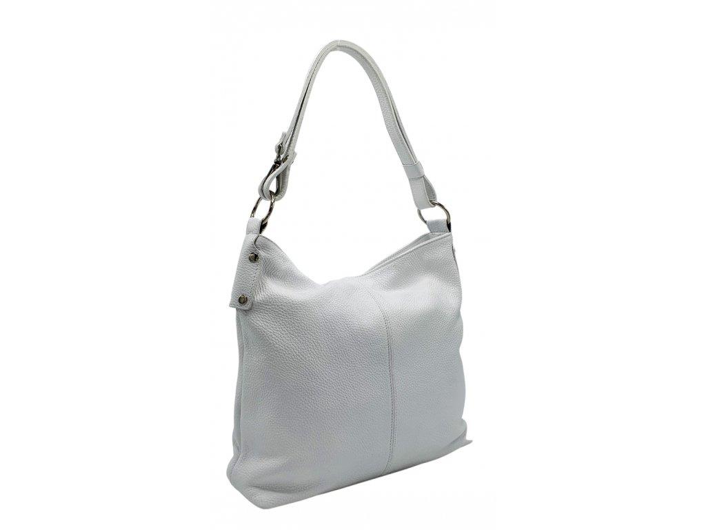 Kožená kabelka přes rameno bílá 3082(1)