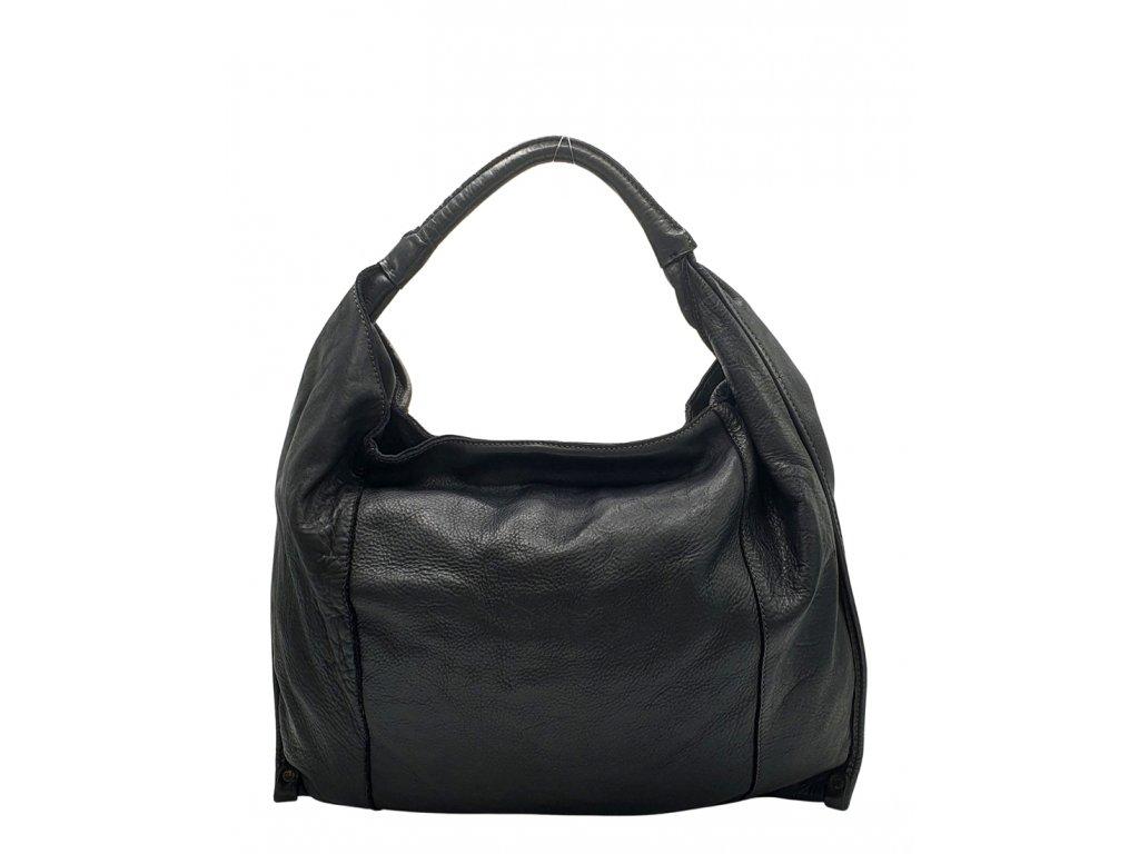 Kožená kabelka přes rameno černá vintage 3274 (1)