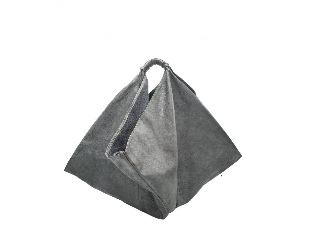 Kožená kabelka šedá vintage 2457 (1)