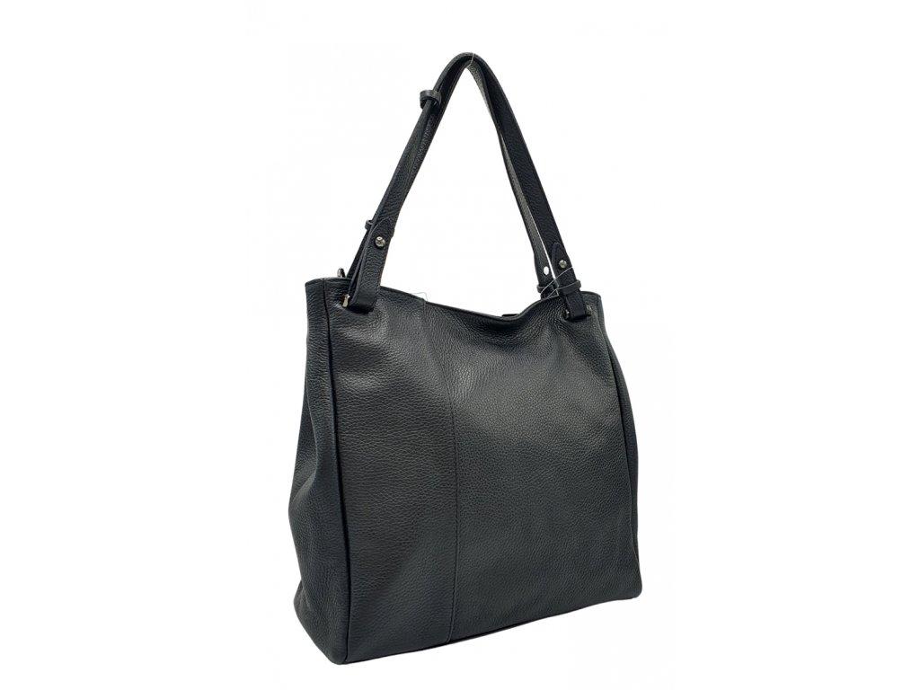 Dámská kožená kabelka černá