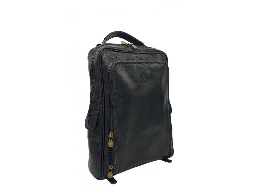 Kožený batoh vintage černý