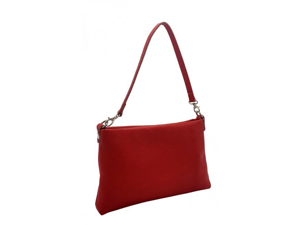 Kožená crossbody kabelka Monika červená