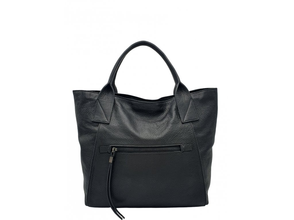 Kožená kabelka Ripani Cedra černá