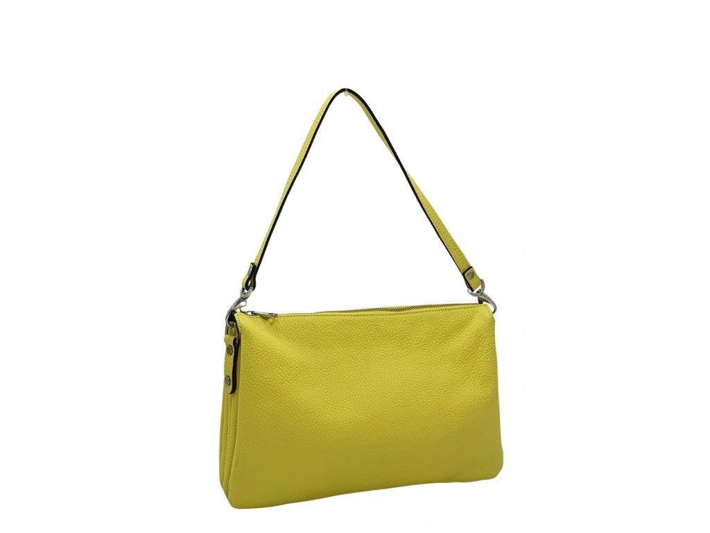Kožená kabelka Ripani Easy bag žlutá