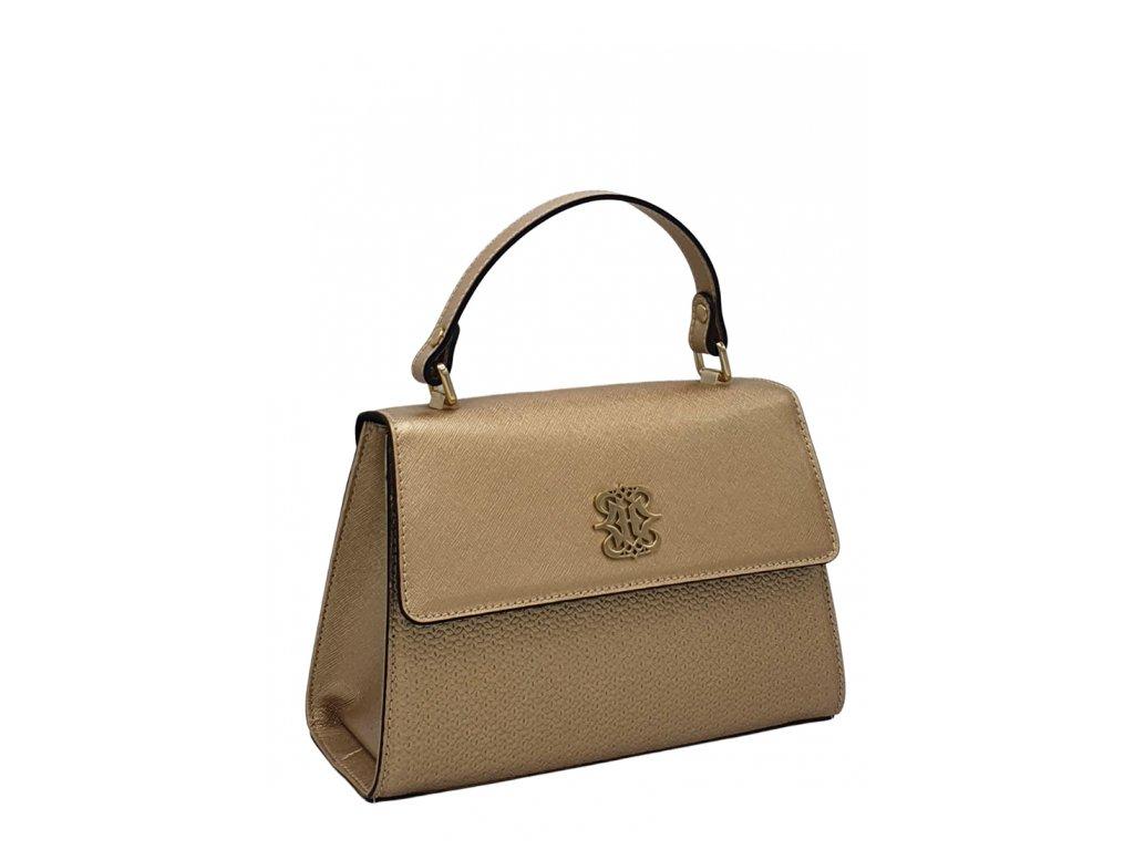 Kožená kabelka Ripani Nadira zlatá