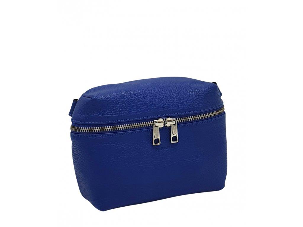 Kožená crossbody kabelka Ripani Easy bag modrá