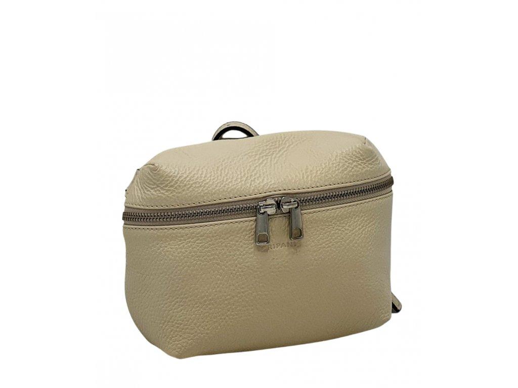 Kožená crossbody kabelka Ripani Easy bag béžová