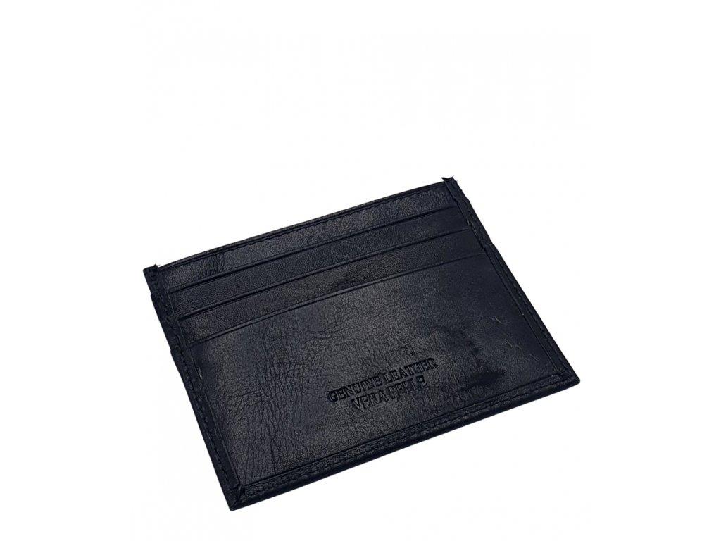 Kožené pouzdro na kreditní karty 8270 černé