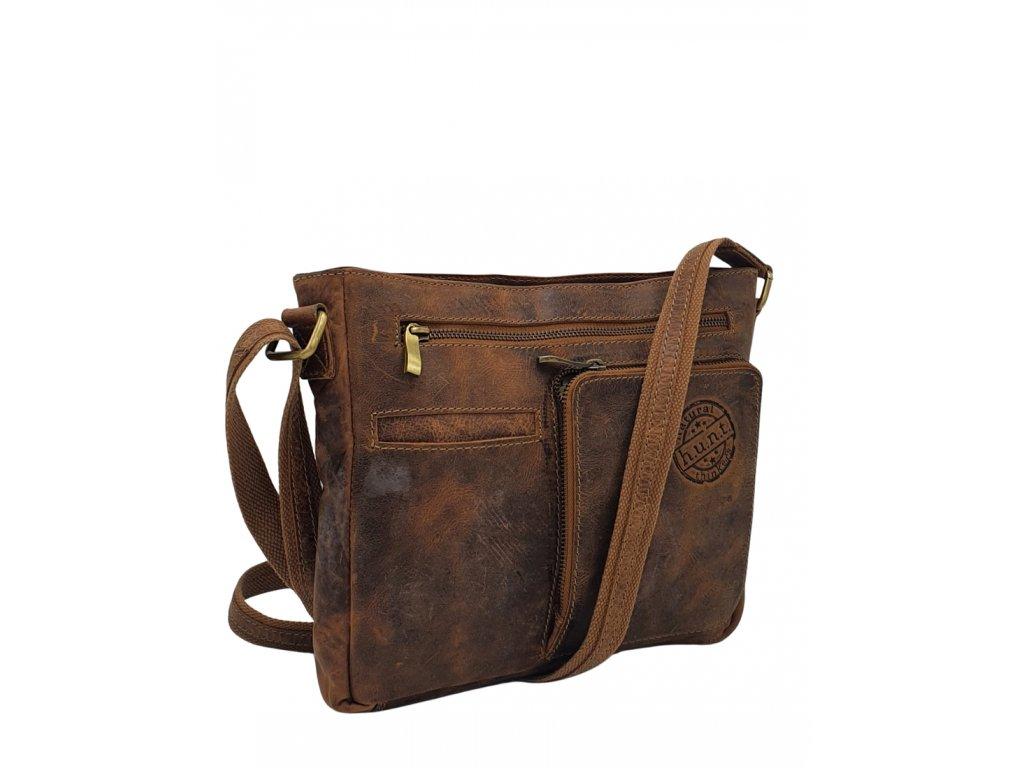 Pánská kožená vintage taška hnědá