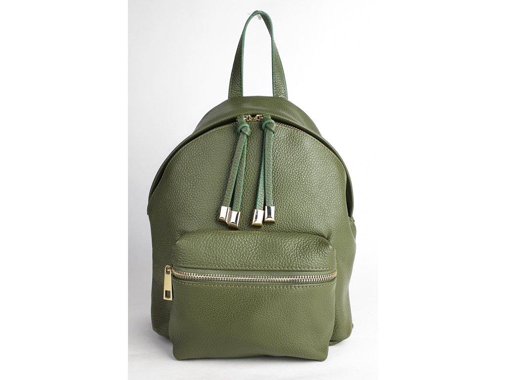 2138 damsky italsky kozeny batoh 2138 tmava zelena dolaro 856x1300